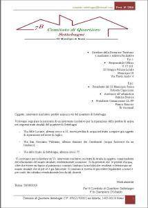 lettera comitato settebagni